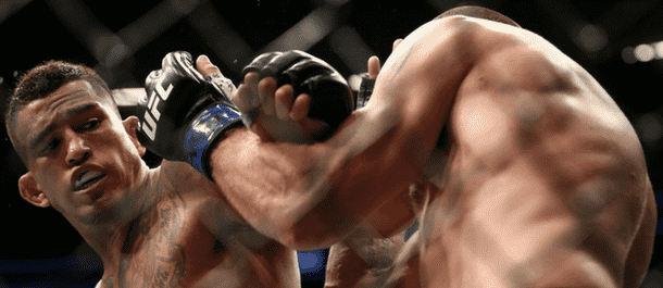 Anthony Pettis battles in the UFC's Octagon