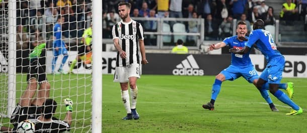 Napoli registered an amazing last-gasp win over Juventus.