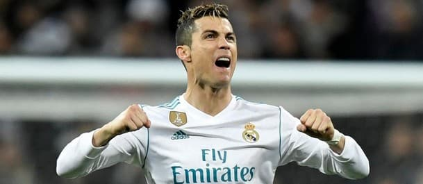 Ronaldo scored three goals over two legs against PSG in the Champions League.