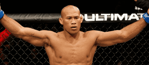 Jacare Souza celebrates a UFC victory