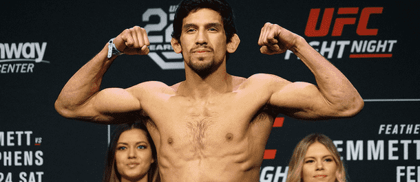 Manny Bermudez weighs in at the UFC scales