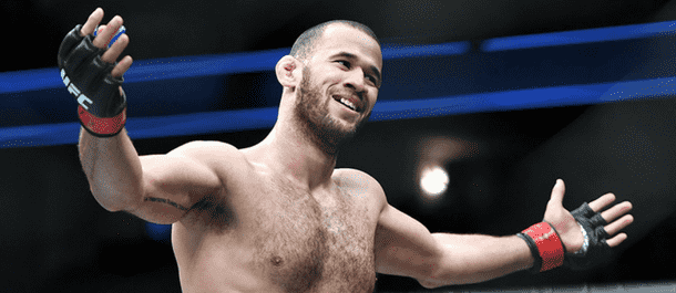 Eric Spicely is all smiles after a UFC victory