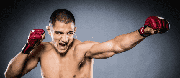 Aaron Pico practices his jab
