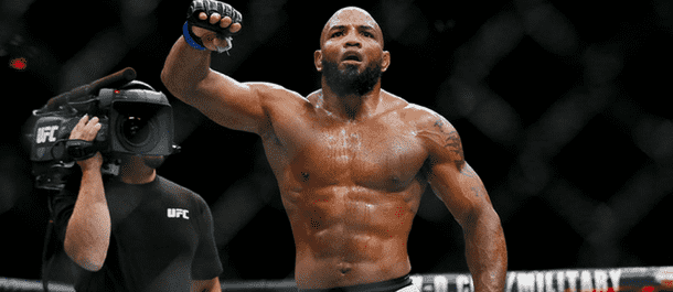 Yoel Romero celebrates after another UFC victory
