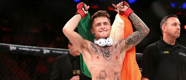James Gallagher celebrates another incredible victory in Bellator