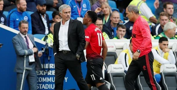 Manchester United lost 3-2 at Brighton last weekend.