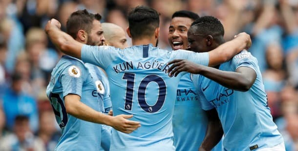 Sergio Aguero scored a hat-trick as City beat Huddersfield 6-1.