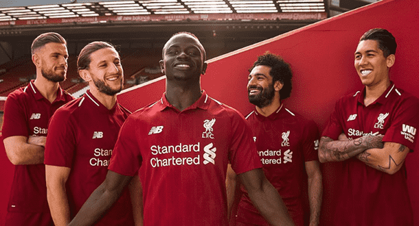 Liverpool's new kit for the 2018/19 Premier League season.