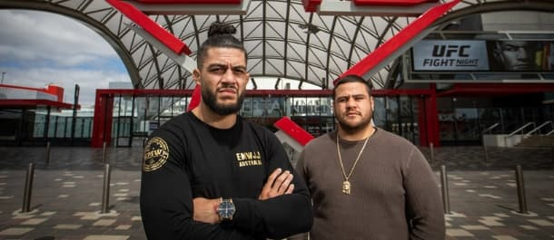 Tyson Pedro and Tai Tuivasa are ready to battle in Adelaide