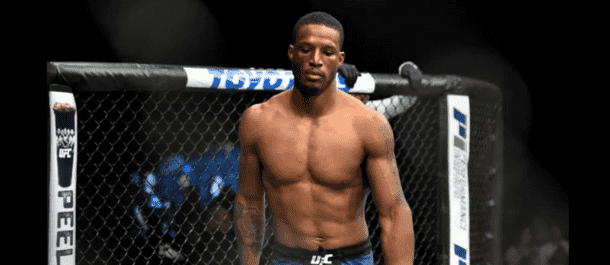 Karl Roberson enters the UFC's Octagon for a UFC bout