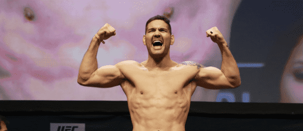 Chris Weidman hits the scales at UFC 205