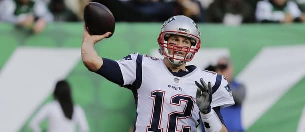Brady is eyeing the Pats' ninth win of the season