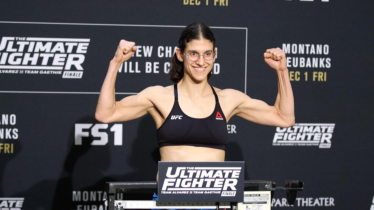 Roxanne Modafferi at the UFC weigh-ins