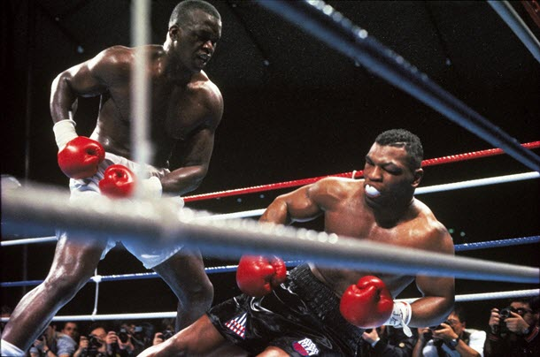 James Buster Douglas beats Iron Mike Tyson