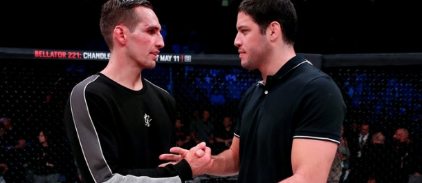 Rory MacDonald and Neiman Gracie meet inside the Bellator cage