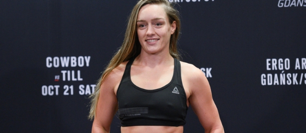 Aspen Ladd weighs in before her UFC bout