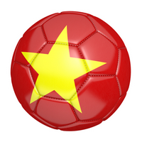 Soccer ball with the country flag of Vietnam