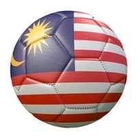 soccer ball with flag of Indonesia